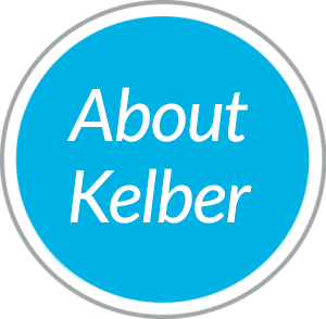 Round blue navigational button to About Kelber