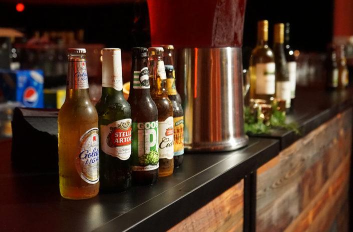 Assorted beer selections by Kelber Catering bar menu