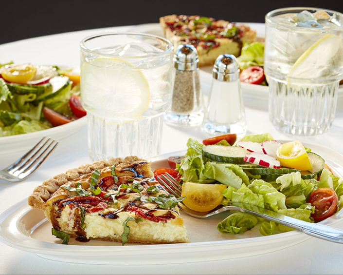 Quiche Margherite with tossed salad by Terry Brennan Photography