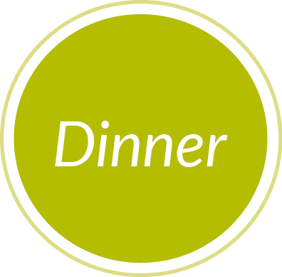 Dinner green circle graphic