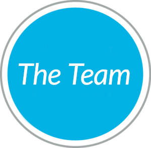 Round blue navigational  button to The Team