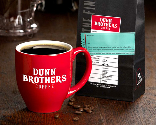 Dunn Brothers Coffee Mug and Coffee Beans