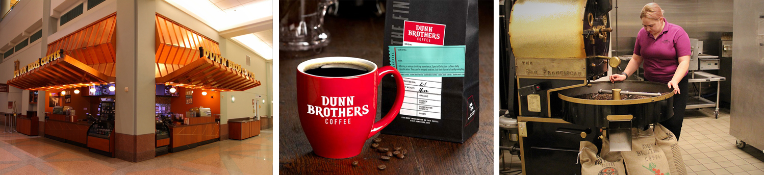 Dunn Brothers Coffee, Dunn Brothers Mug and Beans, Coffee Bean Roaster